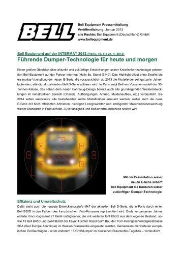 Führende Dumper-Technologie für heute und ... - Bell Equipment