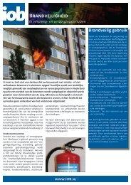 Brandveiligheid in verpleeg- en verzorgingstehuizen - Iob