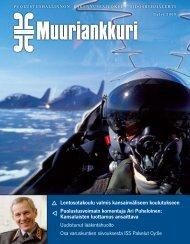 Muuriankkuri 2/2009(pdf) - Puolustushallinnon rakennuslaitos