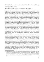 Wirtschaftssoziologie und Politische Ökonomie der ...