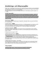 Ansöknings- och tillsynsavgifter - Tingsryds kommun