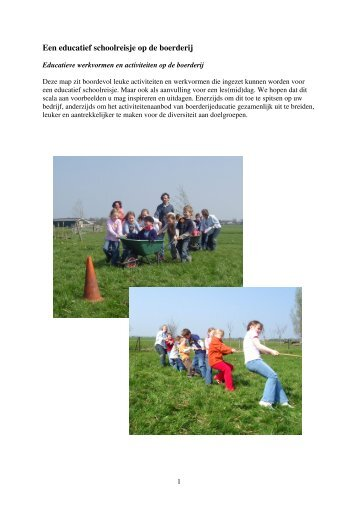 Een educatief schoolreisje op de boerderij