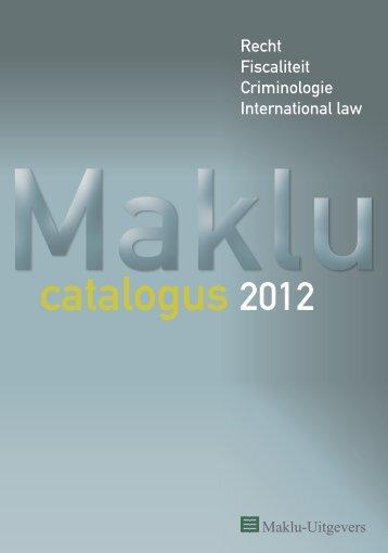 Catalogus Maklu Uitgevers 2012