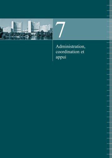 Administration, coordination et appui