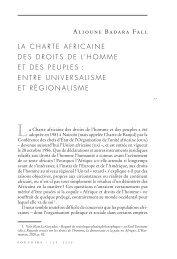 LA CHARTE AFRICAINE DES DROITS DE L'HOMME ET ... - Pouvoirs