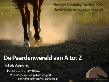 De Vlaamse paardenwereld van A tot Z - Vlaams Paardenloket