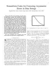 Nonuniform Codes for Correcting Asymmetric Errors in Data Storage