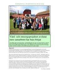 Vård- och omsorgsprojektet avslutat men samarbetet ... - APeL FoU