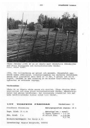 109. Torpets fäbodar - Ovanåkers kommun