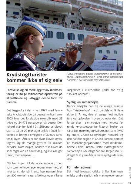Krydstogtturister kommer ikke af sig selv - Århus Havn