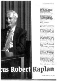 Onlangs was hij even in Nedertand: Robert Kaplan, sen van de ...