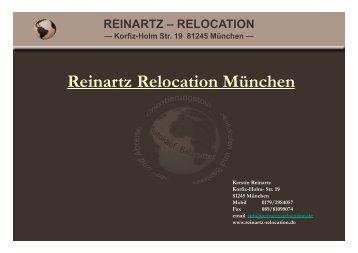Infobroschüre - bei Reinartz Relocation München