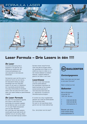 Laser Formula – Drie Lasers in één !!!! - Sailcenter