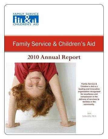 Family Service & Children's Aid 2010 Annual Report