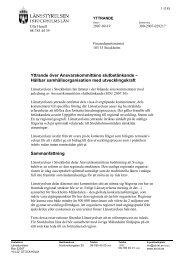Yttrande - Länsstyrelsen i Stockholms län - Länsstyrelserna