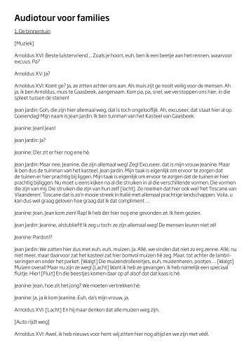 Audiotour voor families - Kasteel van Gaasbeek