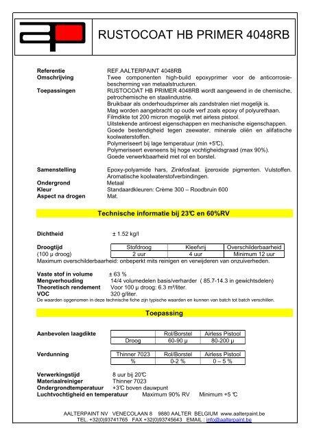 Rustocoat Hb Primer 4048rb Aalterpaint