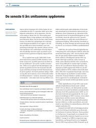 De seneste ti års smitsomme sygdomme - Ugeskrift for Læger