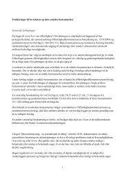 Forklaringer til lovteksten og dens enkelte bestemmelser Generelle ...