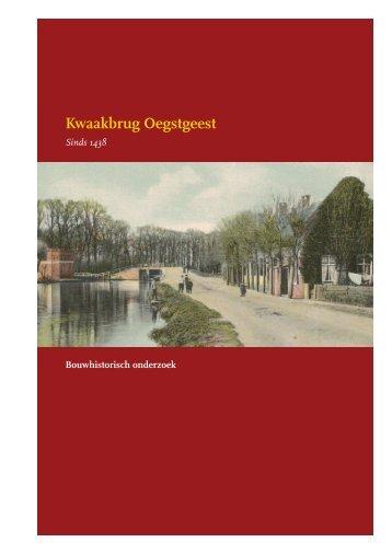 Kwaakbrug Oegstgeest - Vereniging Oud Oegstgeest