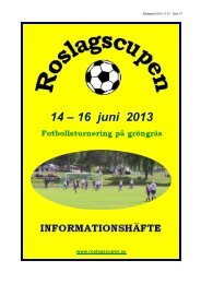 14 – 16 juni 2013 - Svenskalag.se