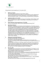 1 Verslag Algemene Ledenvergadering d.d. 20 november 2004 1 ...