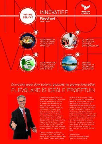 FLEVOLAND IS IDEALE PROEFTUIN - Syntens