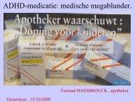 ADHD-medicatie: medische megablunder. - Verontruste Moeders