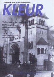 Tijdschrift KLEUR - herdenking van de Kristallnacht
