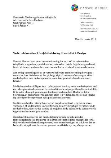 Se høringssvar her - Danske Medier