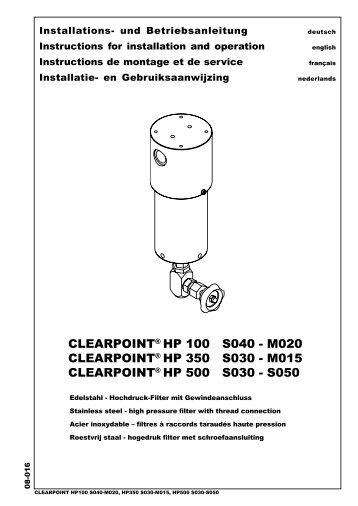 CLEARPOINT® HP 100 S040 - M020 ... - BEKO Technologies Gmbh