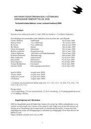Verksamhetsberättelse SNF-Gbg 2009 - Naturskyddsföreningen
