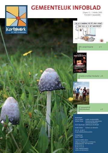 Infoblad uitgave 11: oktober 2009 - De gemeente Kortemark