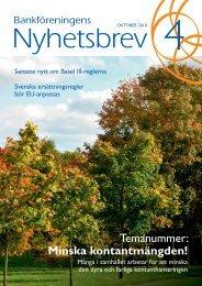 Nr 4 oktober 2010 - Svenska Bankföreningen