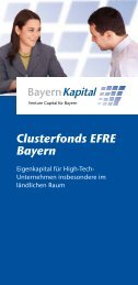 Clusterfonds EFRE Bayern - Bayern Kapital