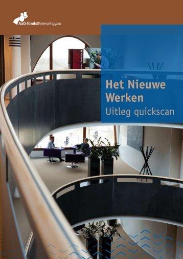 Het Nieuwe Werken | Uitleg quickscan - A&O-fonds Waterschappen
