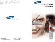GPRS TELEFOON SGH-X450 - Kies ander toestel