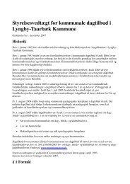 Styrelsesvedtægt - Lyngby Taarbæk Kommune