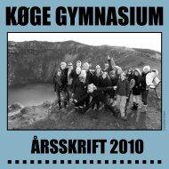 ÅRSSKRIFT 2010 - Køge Gymnasium