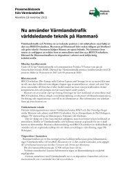 Nu använder Värmlandstrafik världsledande teknik på Hammarö
