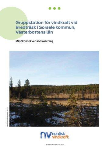Bilaga 2. Miljökonsekvensbeskrivning - Nordisk Vindkraft