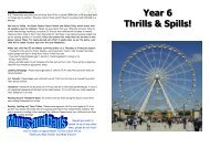 Year 6 Thrills & Spills! - The Willows Primary School
