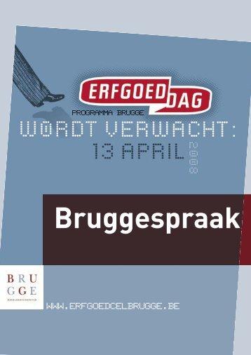 Brugse programmabrochure. - Erfgoedcel Brugge