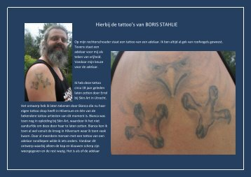 Hierbij de tattoo's van BORIS STAHLIE - Hdcn Nh