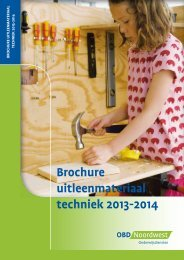 Brochure uitleenmateriaal techniek 2013-2014 - OBD Noordwest