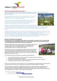 Download hier de tips voor natuur en duurzaamheid in ...