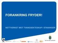 FORANKRING FRYDER! - Helsekompetanse.no