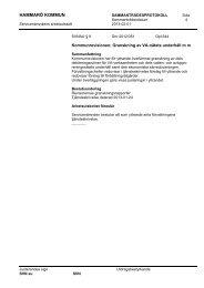 3. Granskning av VA-nätets underhåll m m - Hammarö kommun