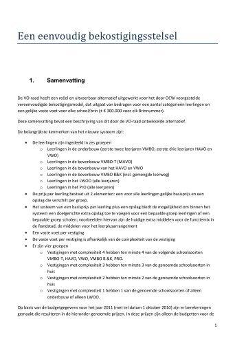1. Samenvatting - VO-raad