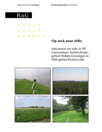 Op zoek naar stilte - Milieufederatie Groningen